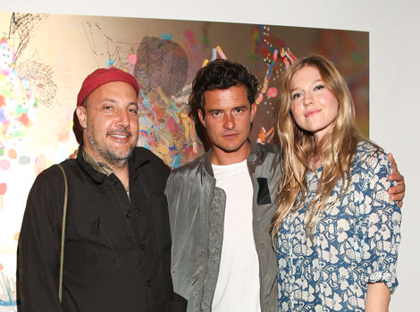Stefan Simchowitz, Orlando Bloom, Petra-Cortright