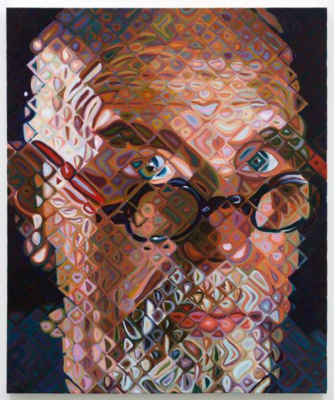 Chuck Close, Self-Portrait II, 2011, oil on canvas