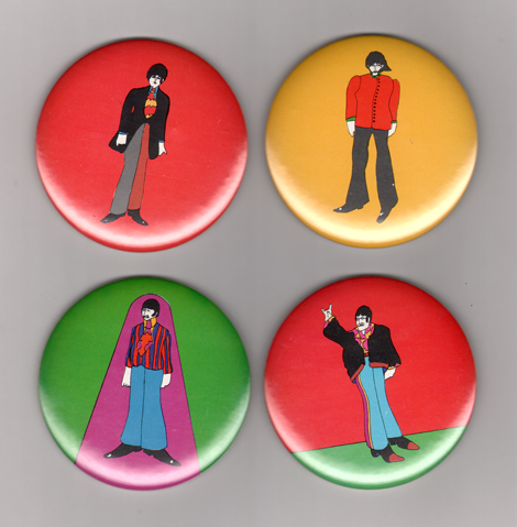 heinz edelmann yellow submarine buttons UNDER THE RADAR