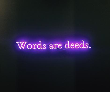 KOSUTH WORDS ARE DEEDS Art World War Art