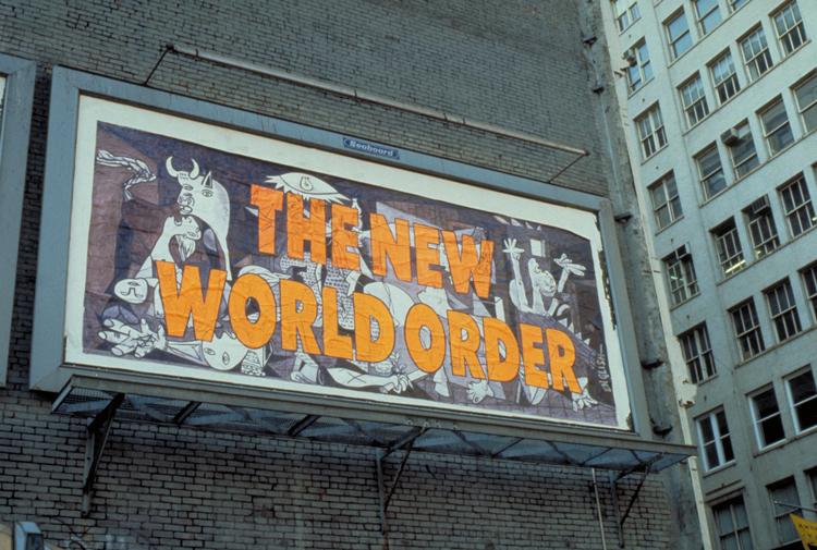 © Ron English, New World Order (Guernica), Billboard, NY, NY, 1991.