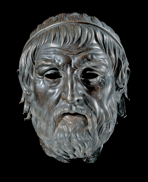 """Portrait of a Poet, """"The Arundel Head,"""" 200-1 B.C., bronze and copper. Image courtesy of and © the Trustees of the British Museum"""