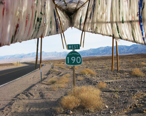 Nuttaphol Ma, Born by the River, 2011, (Day 02: Leaving Furnace Creek. Highway 190 West), video still.