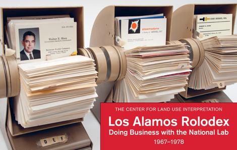 CLUI LosAlamosRolodexCover BlastBooks UNDER THE RADAR