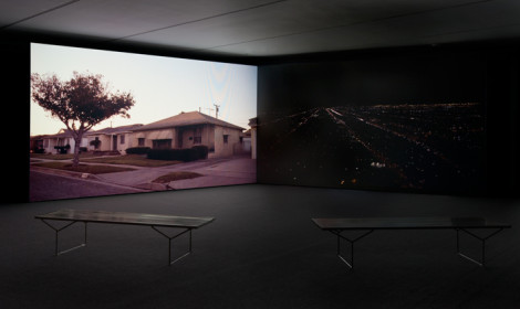 Installation view of Kahlil Joseph: Double Conscience, March 20 – August 16, 2015 at MOCA Grand Avenue, courtesy of The Museum of Contemporary Art, Los Angeles, photographed by Chayse Irvin, installation photo by Brian Forrest.