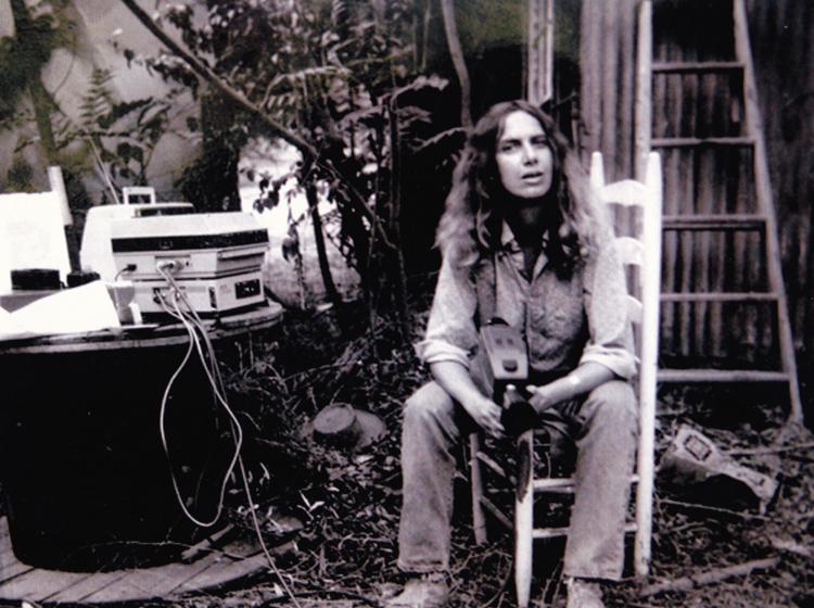 Just video, baby: Rabyn Blake circa '76 with camera and Portapak