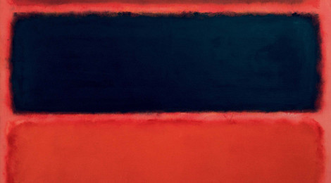 Mark Rothko, No. 36 (Black Stripe), 1958, from the collection of the Museum Frieder Burda in Baden-Baden.