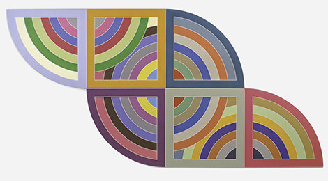 Frank Stella, Harran II, 1967. Polymer and fluorescent polymer paint on canvas. Solomon R. Guggenheim Museum, New York; gift, Mr. Irving Blum, 1982. © 2015 Frank Stella/Artists Rights Society