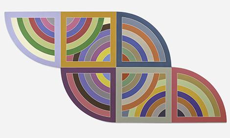 Frank Stella, Harran II, 1967. Polymer and fluorescent polymer paint on canvas. Solomon R. Guggenheim Museum, New York; gift, Mr. Irving Blum, 1982. © 2015 Frank Stella/Artists Rights Society