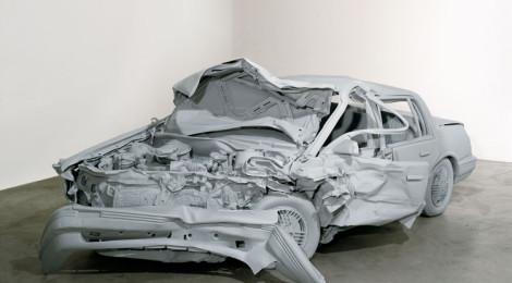 """Charles Ray, Unpainted Sculpture, 1997, 60 x 78 x 171"""", fiberglass, paint, collection Walker Art Center."""