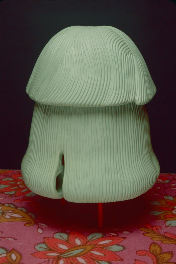"Phyllis Green, Christine, 2003, ceramic, acrylic, 12 x 8 x 8"", collection of Lynn Aldrich, photo by  Ave Pildas."
