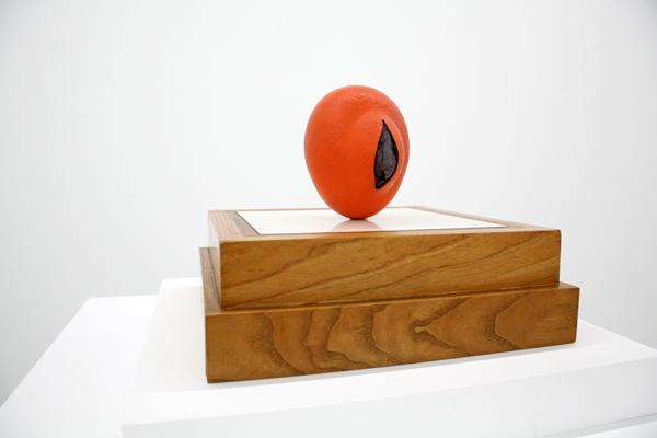 Ken Price, Orange, 1964, fired ceramic, courtesy Parrasch Heijnen Gallery.