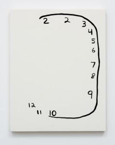 Meg Cranston Clock with Left Missing 2015 14 x 11 in 238x300 <h6 class=sub>Meliksetian   Briggs: </h6><h1 class=post title entry title>Meg Cranston</h1>