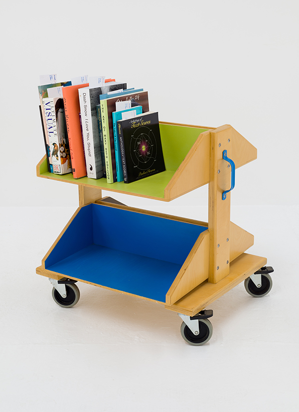Kim Schoenstadt, Book Truck No. 1, 2015 courtesy of the artist and Chimento Contemporary photo: Ruben Diaz