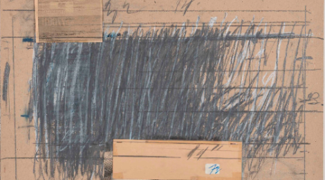 Cy Twombly, Spoleto Festival, 1980. Mixed media collage. 39 3/4 x 27 7/8 inches.