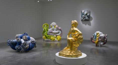 "Installation of Matt Wedel, ""Peaceable Fruit,"" L.A. Louver, 2015, courtesy L.A. Louver"