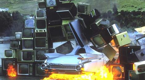 Media Burn by Ant Farm (1975).