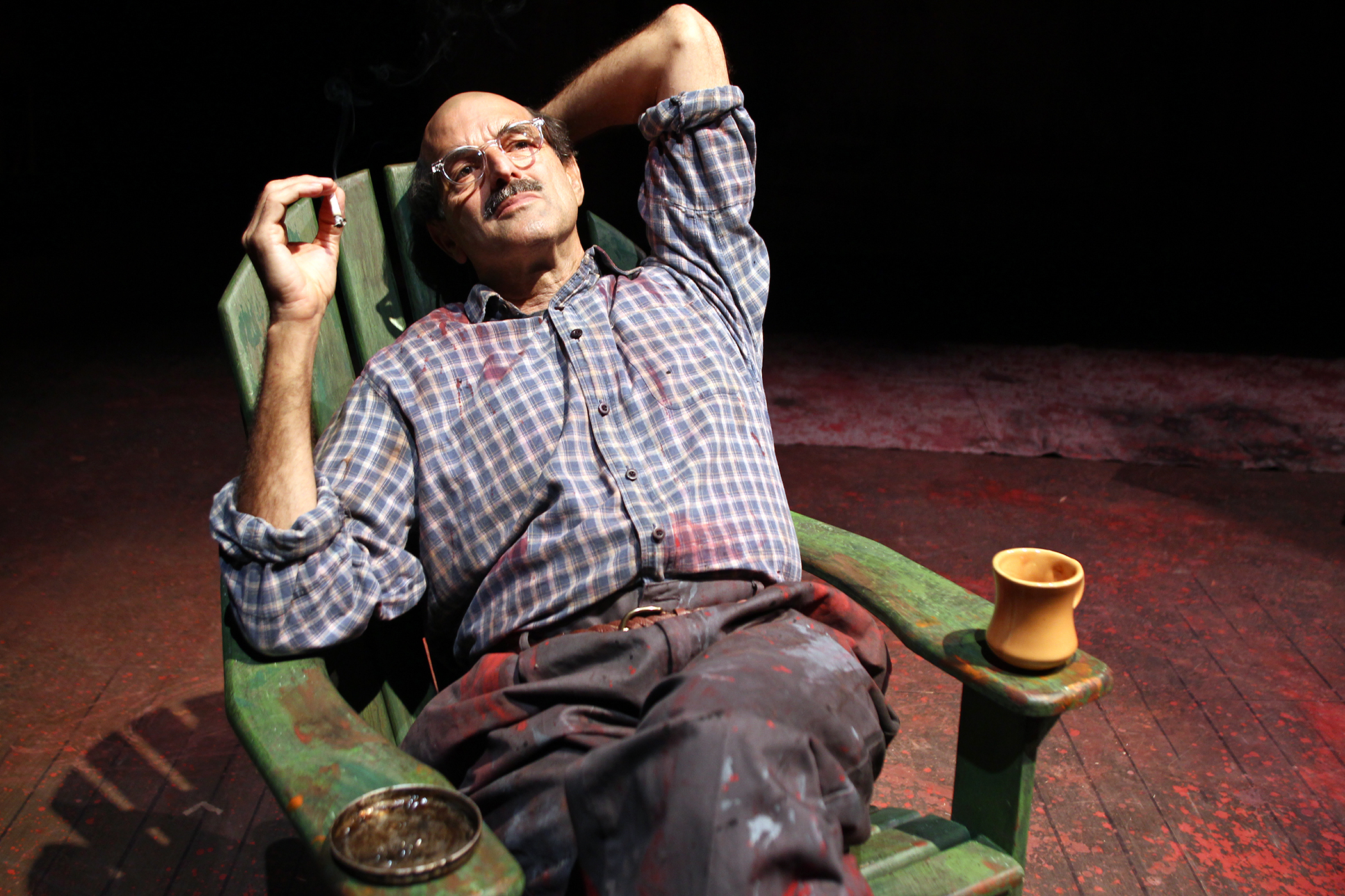Mark Harelik as Rothko in John Logan's Red at South Coast Repertory. Photo by Debora Robinson-SCR