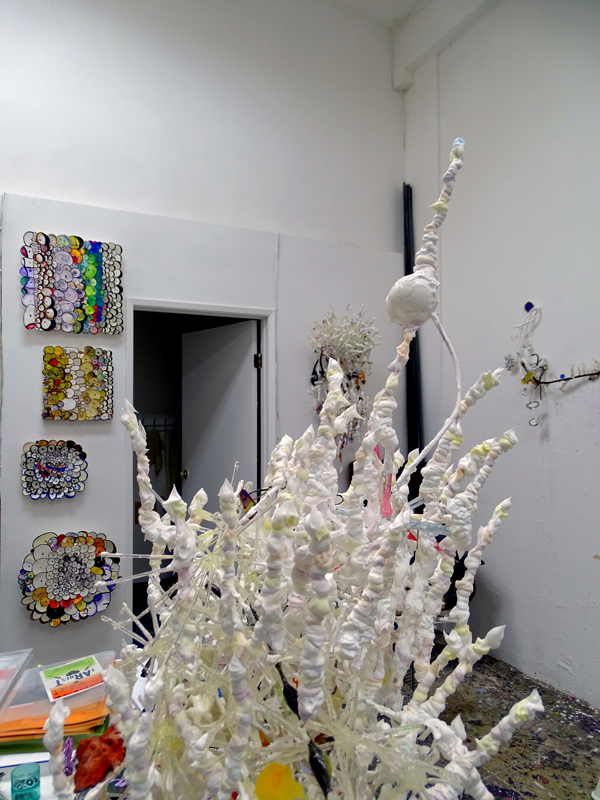 Inside Maura Bendett's studio, detail of work in progress, photo by Annabel Osberg.
