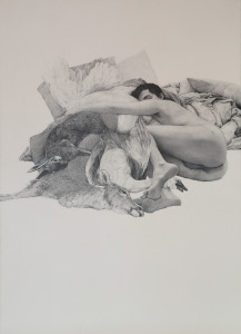 Kincheloe Untitled dead game 217x300 <h6 class=sub>CB1 Gallery: </h6><h1 class=post title entry title>Tight Ass: Labor Intensive Drawing and Realism</h1>