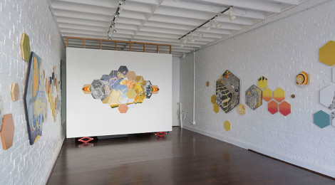 "Jennifer Celio, ""Hitched to everything else,"" Installation view, courtesy of the artist and Haphazard."
