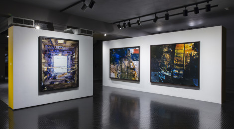 "Marie Bovo, ""How to Survive Abstraction,"" installation view, courtesy of the artist and the California Museum of Photography at UCR ARTSblock, photograph by Nikolay Maslov."