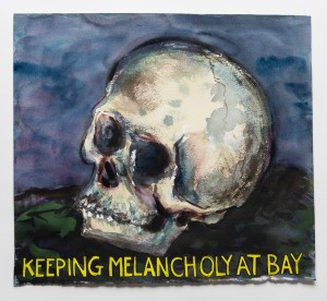 "Guy Richards Smit, ""Keeping Melancholy At Bay,"" watercolor, gouache & ink on paper (14.75x16.25 in.) 2015"