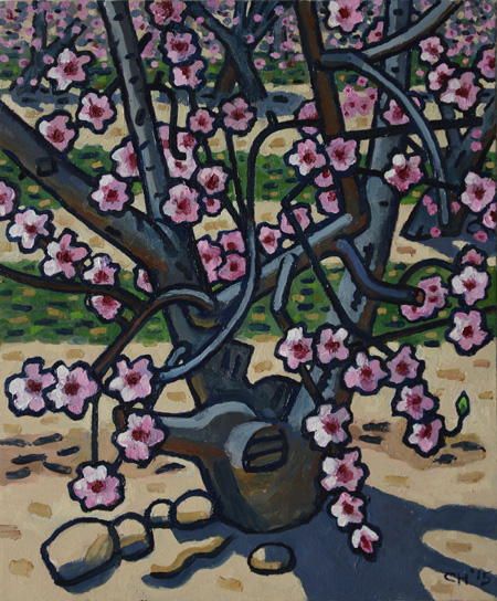 HoekzemaAlmondBlossoms2015oil 24x22 small Curtis Hoekzema Paintings