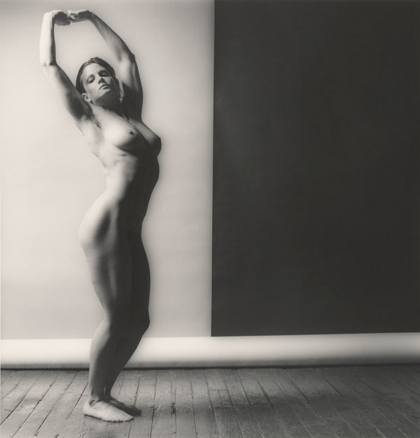 Robert Mapplethorpe, Lisa Lyon, 1982, Gelatin silver print, Promised Gift of The Robert Mapplethorpe Foundation to the J. Paul Getty Trust and the Los Angeles County Museum of Art, © Robert Mapplethorpe Foundation.