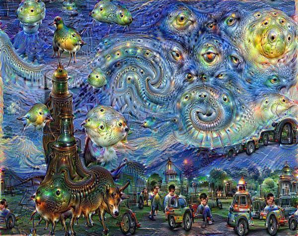 Starry Night credit to Google Deep Dreams