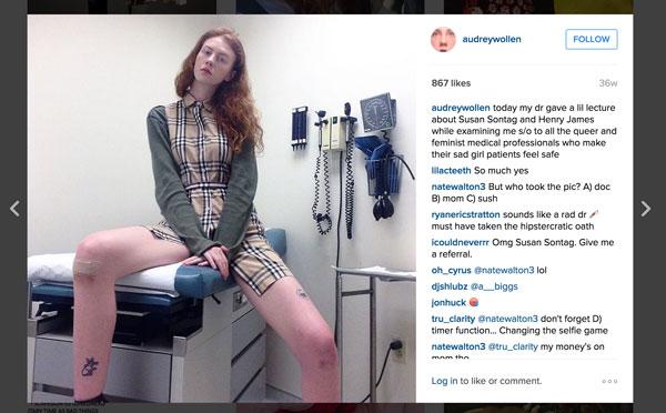 wollen sad girl patient Audrey Wollens Feminist Instagram World