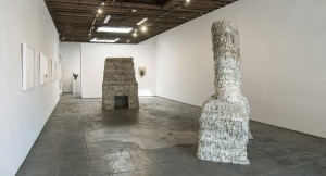 Installation view of Two Chimneys by Catherine Fairbanks at Wilding Cran Gallery. Courtesy of Wilding Cran Gallery.