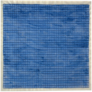 Agnes Martin, Summer, 1964, watercolor, ink & gouache on paper, 9.25 x 9.25 in.