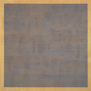 Falling Blue, 1963, oil & graphite on canvas, 72 x 72 in.