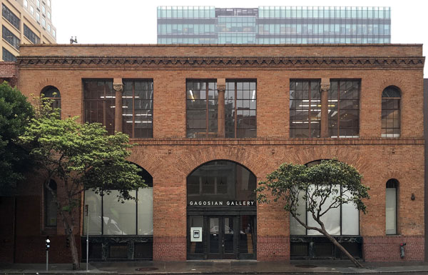 Façade of Gagosian Gallery in San Francisco, ©M-PROJECTS, courtesy Gagosian Gallery.