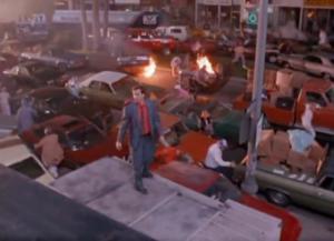 """MiracleMile riots still 300x217 Apocalypse On the """"Miracle Mile"""":  Steve De Jarnatt's Movie Milestone"""
