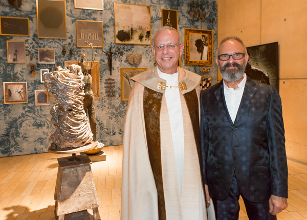 """The art chapel at the Cathedral of Our Lady of the Angels in downtown Los Angeles during the exhibition """"Simon Toparovsky: Vessels and Channels,"""" Nov. 9, 2014–Feb. 15, 2015. Photographer: deMonica Orozco."""
