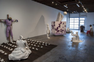 "Karon Davis, ""Pain Management,"" installation view, courtesy of the artist and Wilding Cran."