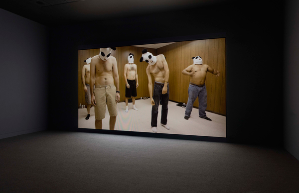 """Kenneth Tam, still from Breakfast in Bed, 2016, installation view, """"Made in L.A. 2016: a, the, though, only,"""" Hammer Museum, Los Angeles, photo by Brian Forrest."""