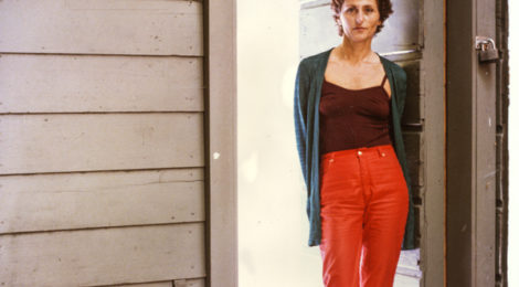 Felsen at her Rosamund Felsen Gallery, 669 N. La Cienega Blvd., LA, early '80s.