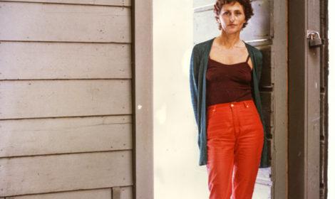 Felsen at her Rosamund Felsen Gallery, 669 N. La Cienega Blvd., LA, early '80s.