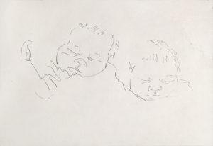 """Tom Knechtel, """"Avery (2)"""" (2015), ink on paper, courtesy Marc Selwyn Fine Art"""
