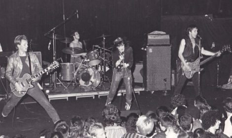 X at the Whisky a Go Go, August, 1980, photo by Lynda Burdick.