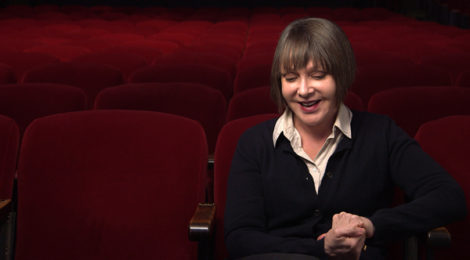 Diana Thater at The Theatre at Ace Hotel in Los Angeles, USA, 2015. Production still from ART21's series Art in the Twenty-First Century, Season 8, 2016. Cinematography: Scott Anger. © ART21, Inc. 2016.