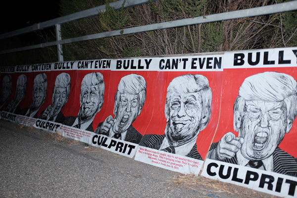 Robbie Conal  posters in Los Angeles, June 2016, photo by Thomas Mignone.