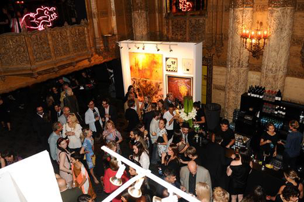 Crowd at first Sexy Beast Art Auction Fundraiser for PPL, 2014