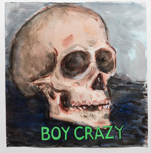 Guy Richards Smit, Boy Crazy, 2015.  Watercolor, gouache, and ink on paper.  18 x 17.5 inches.  Image courtesy of the artist and Charlie James Gallery, Los Angeles.  Photo credit Michael Underwood.