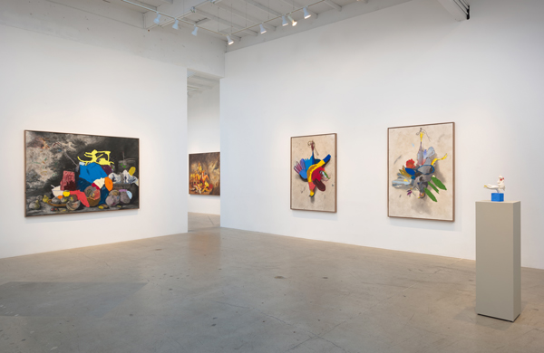 "Installation view, ""Dawn of the zone,"" at China Art Objects Galleries."