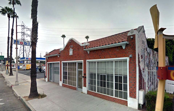 Exterior of Mark Moore Gallery in Culver City