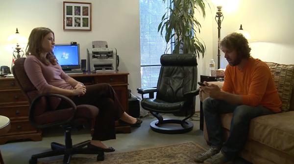 Horowitz with therapist